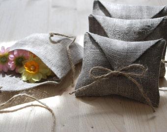 Linen favor /gift/ candy envelope style bags. Wedding favors. Set of 10-40. Linen bags/ purse. Burlap favors.Size : 4 1/2 inch x 3 1/2 inch