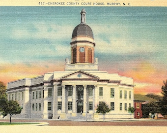 Murphy, North Carolina, Cherokee County, Court House - Vintage Postcard - Postcard - Unused (YY)
