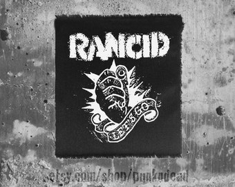 Rancid Punk Let's Go Punch Logo Patch • custom patches • motorcycle patch • back patch punk aufnäher • custom patches