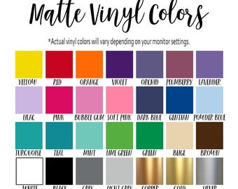 Vinyl Color Samples - 2 Colors Wall Decals - Vinyl for wall decals by Simply Love Creations