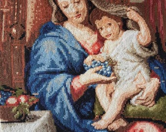 Gobelin tapestry Madonna and child