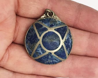 Vintage Persian Pendant Handmade Ethnic Tribal Pendant Afghan Lapis Pendant One of a kind