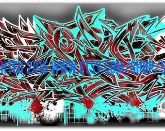 Graffiti Canvas - Mixed Media