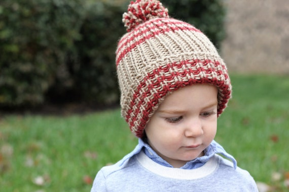 Childs Knit Ribbed Hat Pattern