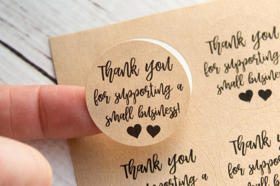 Thank you for supporting a small business small business packaging thank you labels thank you stickers 48 pieces 1 25 inches from