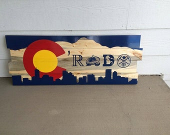 Colorado decor C'RADO Colorado Flag decor, Colorado flag sign
