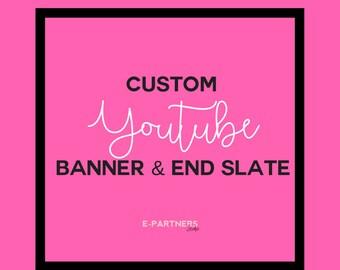 CUSTOM Youtube Banner & End Slate | Youtube End Slate | Youtube Outro | Youtube Branding - Social Media Branding