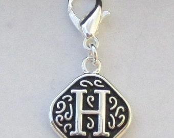 Vintage  Letter H  Dangle  Lobster Claw for Necklace - Bracelets - Key Chains