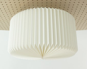 RAMEKIN: Origami Paper Ceiling Lamp Shade - White