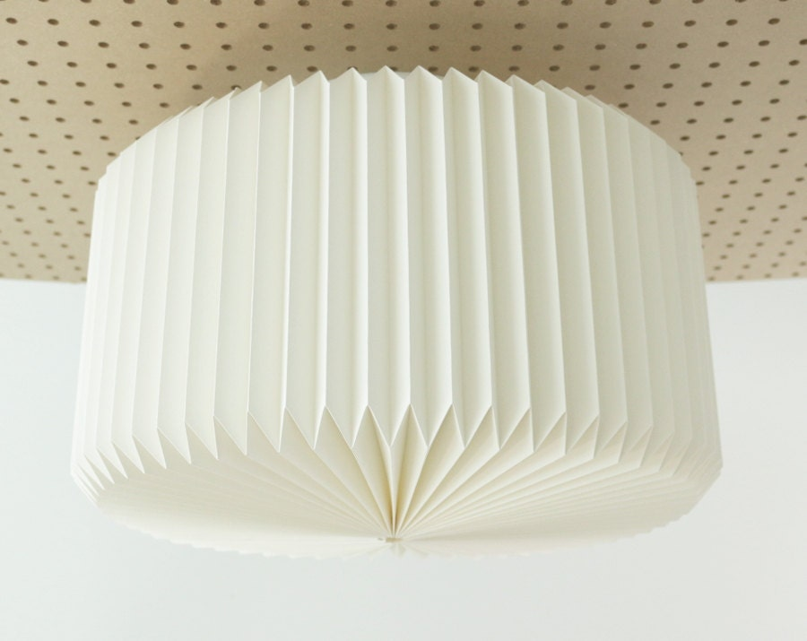 Ramekin origami paper ceiling lamp shade white zoom mozeypictures Images