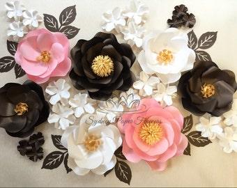 GRANNY's GARDEN paper flowers set/Paper flower wall/Wedding Backdrop/Baby shower/Baby shower/Sweet table/Christening /Dessert table