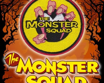 "THE MONSTER SQUAD Custom Logo 3"" Round Patch Iron on Backing Dracula The Mummy Wolfman Gillman Frankenstein Stephen King Rules Fred Dekker"