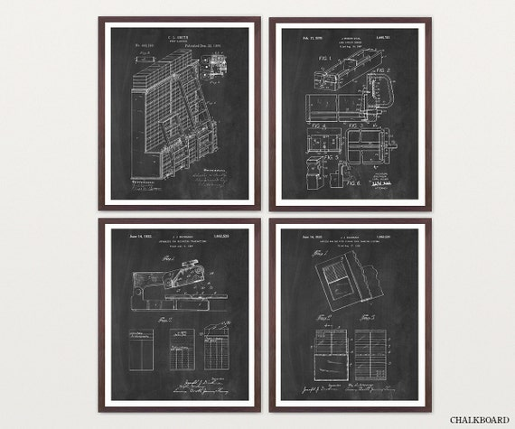 Inventions of the Library - Library Patent Print - Library Art - Library Poster - Librarian Art - Librarian Wall Art - Librarian Poster