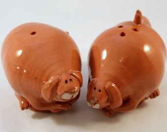 Ceramic Dog Salt and Pepper Shakers
