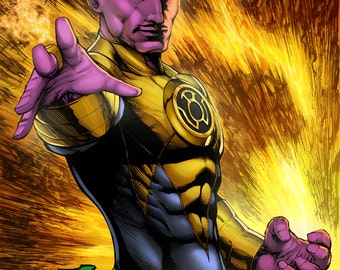 Sinestro Print by Hanzozuken