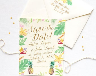 Destination Wedding Save the Date, Beach Wedding Save the Date, Tropical Wedding Save the Dates, Hawaii Wedding Save the Date Cards