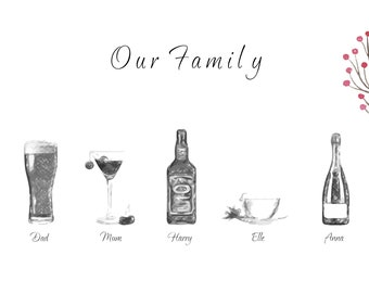 Personalised Family Print  for Family Personalised