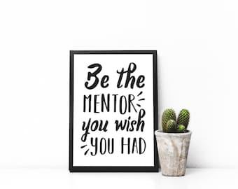 Mentor Printable - Mentor Gift - Gift For Mentor - Mentor Wall Art - Mentor Decal - Professor Gift - Teacher Gift - Mentor Gifts Digital