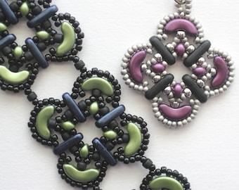 Marrakesh Tile Bracelet tutorial