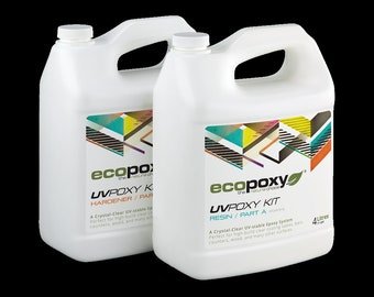 EcoPoxy UVPoxy 1L  2L  4L - Safe Epoxy Resin for Artists | Green Eco-Friendly | EcoPoxy | Environmentally Safe | Resin Artist Recommended