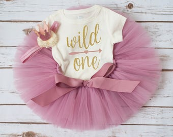 Rose gold Wild One birthday 'Rosy' rose gold first birthday outfit pink and gold girl vintage first birthday tutu outfit first birthday tutu