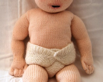 Knitting pattern PDF for 'Constance' doll.