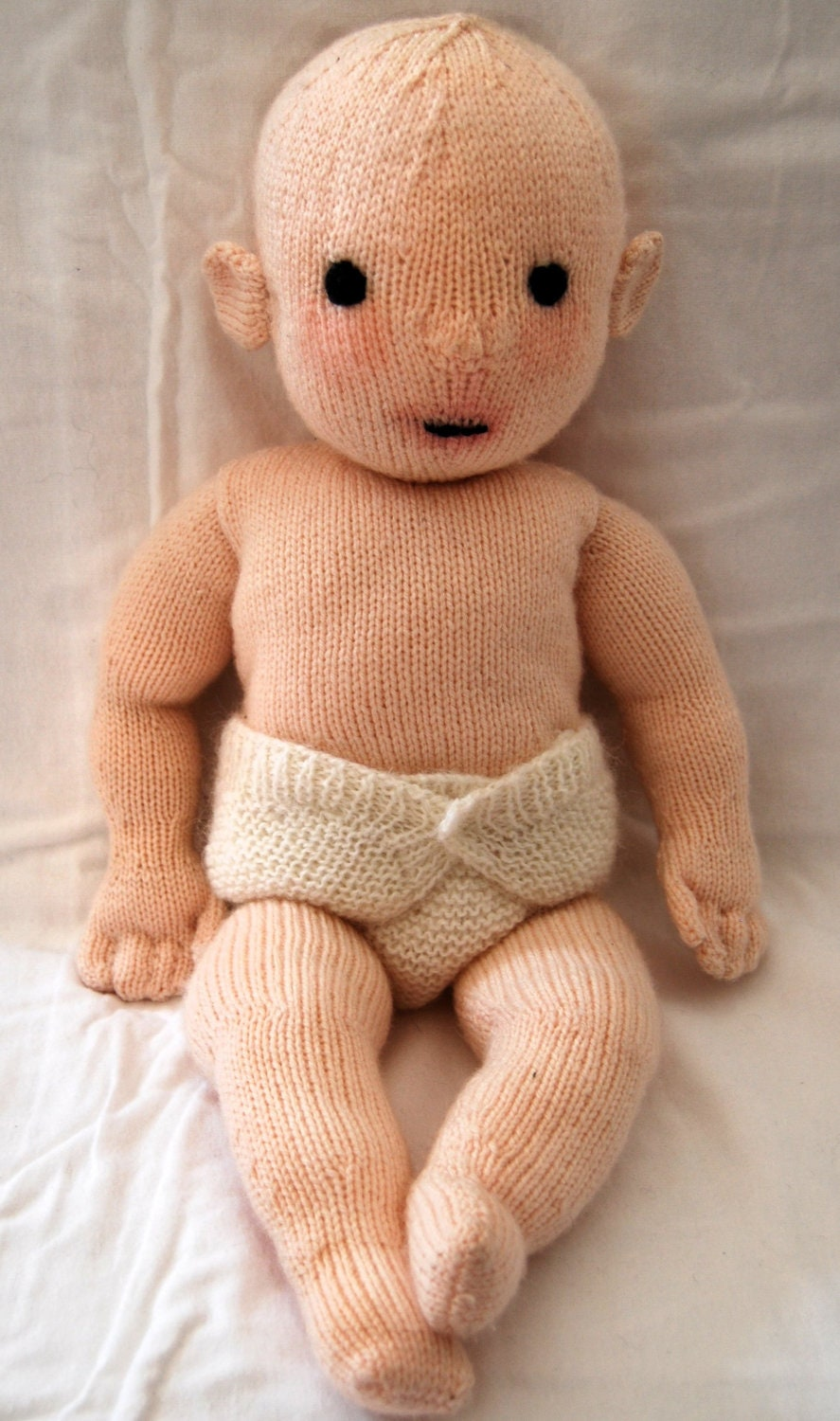 Knitting pattern PDF for \'Constance\' doll. from TheatreOfYarns on ...