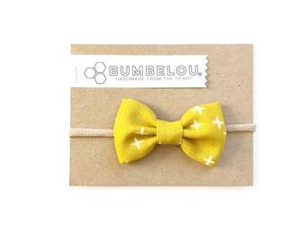 Classic Fabric Bow - Goldenrod X - Headband or Clip