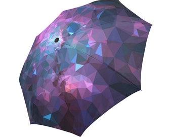 Purple Umbrella Pink Umbrella Galaxy Designed Umbrella Geometric Umbrella Rainbow Umbrella Photo Umbrella Automatic Foldable Umbrella