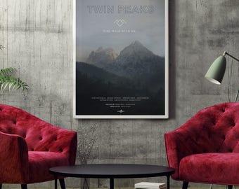 Twin Peaks TV Poster Art Print, TV Poster, Wall Art, Twin Peaks Poster, David Lynch Poster