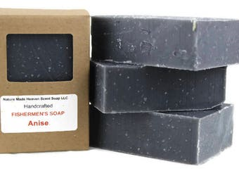 Fishermen's, Hunter's, Anise Soap 5.5 Oz. All Natural, Activated Charcoal, Handmade, Cold Process