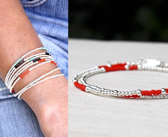 double bracelet turns color choose miyuki beads and 925 Silver beads
