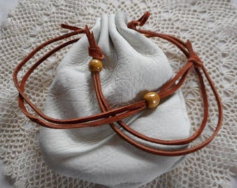 NATURAL DEERSKIN Handmade Hand Sewn Easy Open Large Size Pouch Re-enactment Jewelry Marbles  Crystals Tobacco Ammo Posssibles Tinder Whatnot
