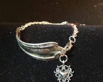 Antique silverware spoon bracelet