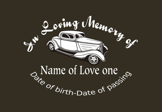 Hotrod memory decal, In Loving memory car Decal, Custom memory auto decal  from InspirationalDecals on Etsy Studio