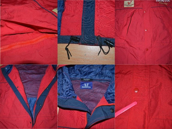 Jacket HONDA Vintage Racing Raincoat Team 90s Size L Training F1 zqq6f7xwnW