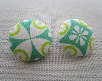 Green Morocco Shank Buttons 29mm