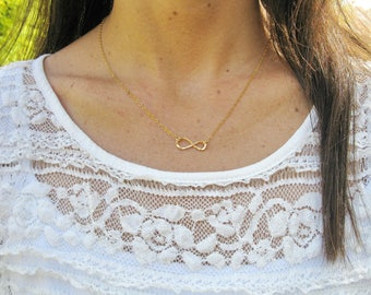 Infinity necklace, Gold filled necklace, Gold infinity necklace, Mother Daughter gift, Bridesmaids gift