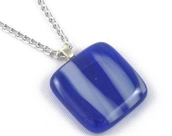 Dark & Light Blue Glass Pendant