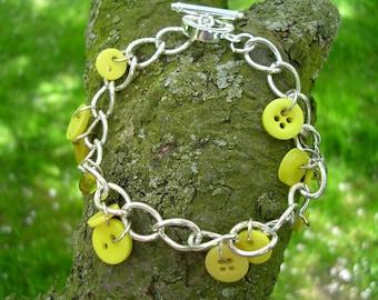 yellow button toggle bracelet