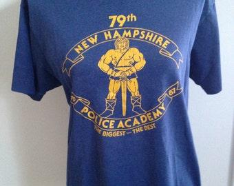 RARE Vintage New Hampshire Police Academy 1987 Conan the Barbarian Tshirt