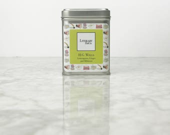 H.G. Wells Tea - Loose Leaf Tea.. The perfect Literary gift, Mothers Day Gift for Tea Lover, Book Lover or Bibliophile! Lemongrass