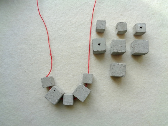 Concrete cube beads set of 12 hand casting beads do it yourself concrete cube beads set of 12 hand casting beads do it yourself goncrete necklace geometric jewelry from likebeads8 on etsy studio solutioingenieria Images