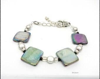 Bohemian style Pearl puck women bracelet