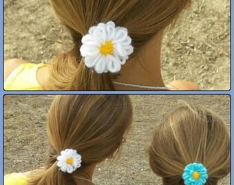 Hair bands of wool flowers