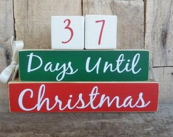 Countdown  blocks, days until (weeks until)  Christmas, Christmas countdown, Christmas decoration,