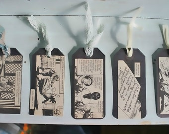 Jane Eyre gift tags, bookmarks, scrapbook embellishment, fun literary gift, set of 5!