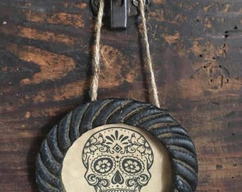Blackened Beeswax Frame Day of the Dead