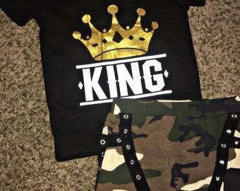KING & Camo Jogger Pants