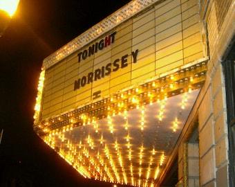 Morrissey, The Smiths, Moz, concert, Chicago, Congress Theatre, music lover, vintage, retro, lights, sign, rock, singer, art print